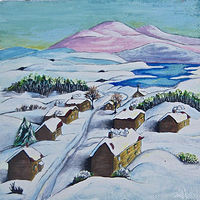 Little Village in Winter by Melissa Kenyon Mcintyre
