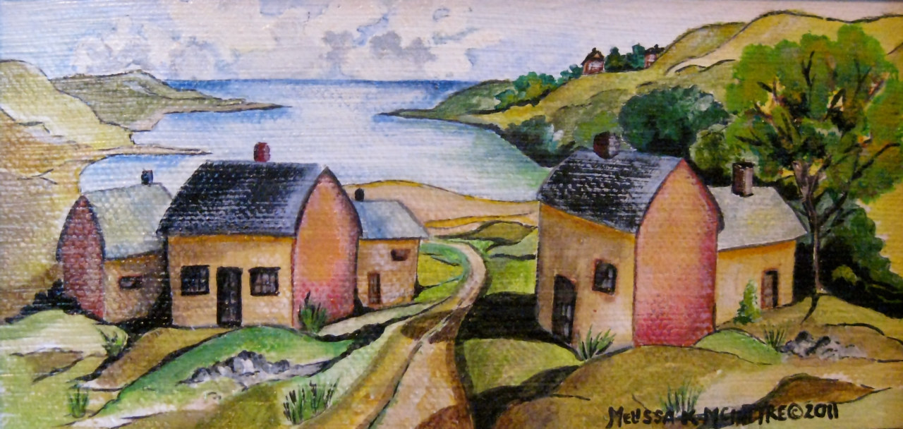 Little Cove Village by Melissa Kenyon Mcintyre