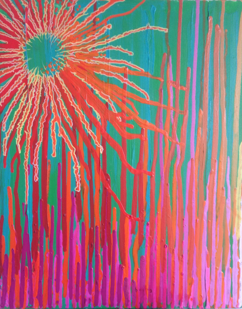 Acrylic painting Sunburst by Erik Thorkildson