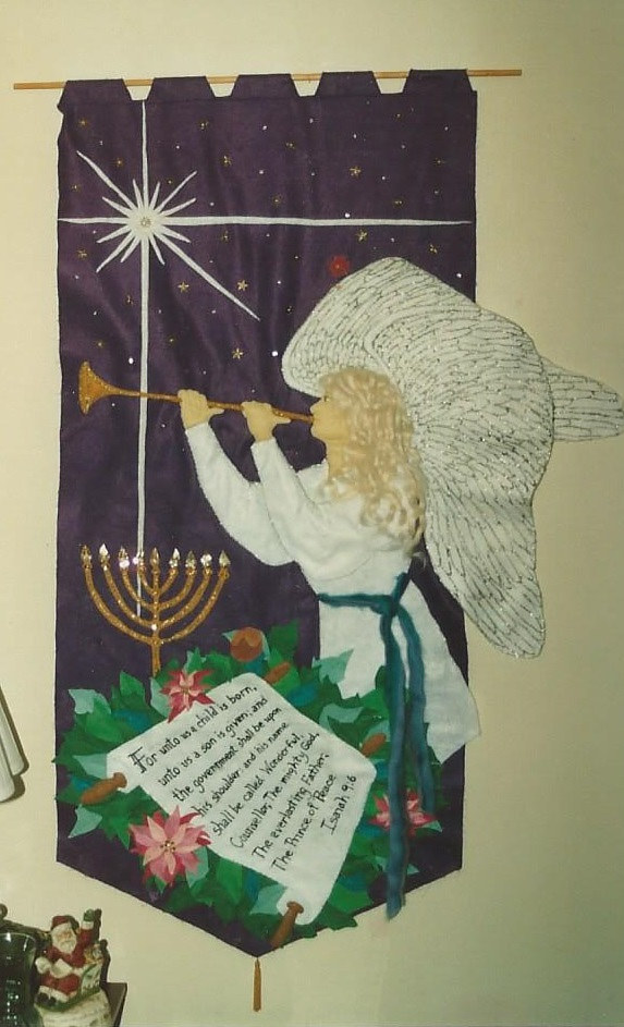 Painting Christmas Banner 1992 by Jan Wirth
