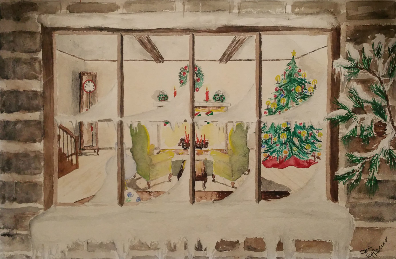 Watercolor Welcome Christmas by Jan Wirth