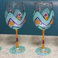 Painting CHEVRON GOBLETS 2015 by Jan Wirth