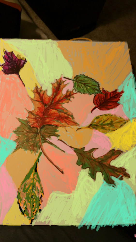 Painting Abstract Leaves by Jan Wirth