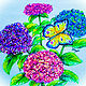 Drawing Hydrangeas Bright Version by Jan Wirth