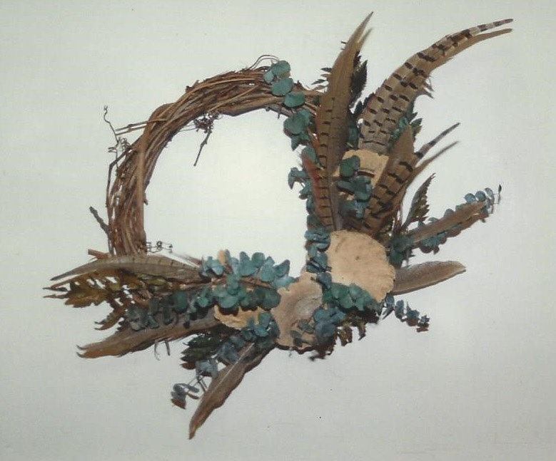 Pheasant Feather Wreath by Jan Wirth