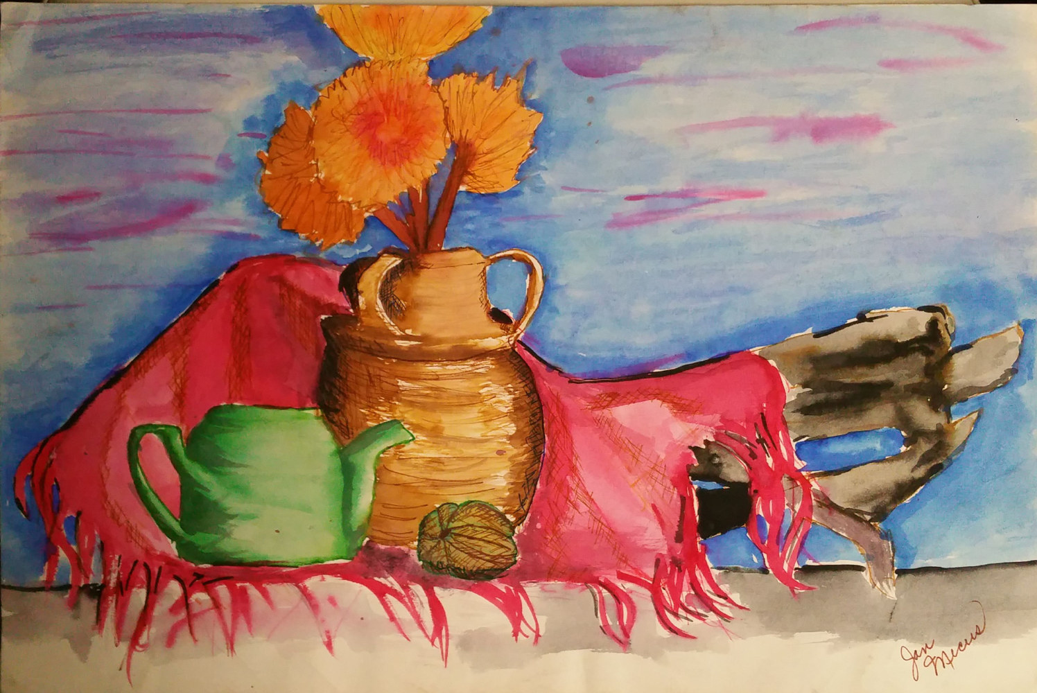 Watercolor Still Life by Jan Wirth