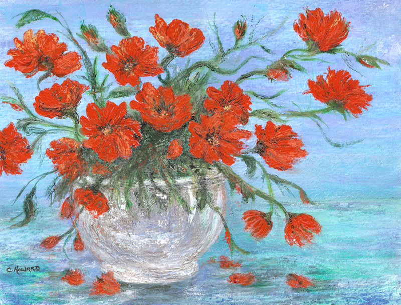 Painting Jubilee Poppies  by Catherine Howard