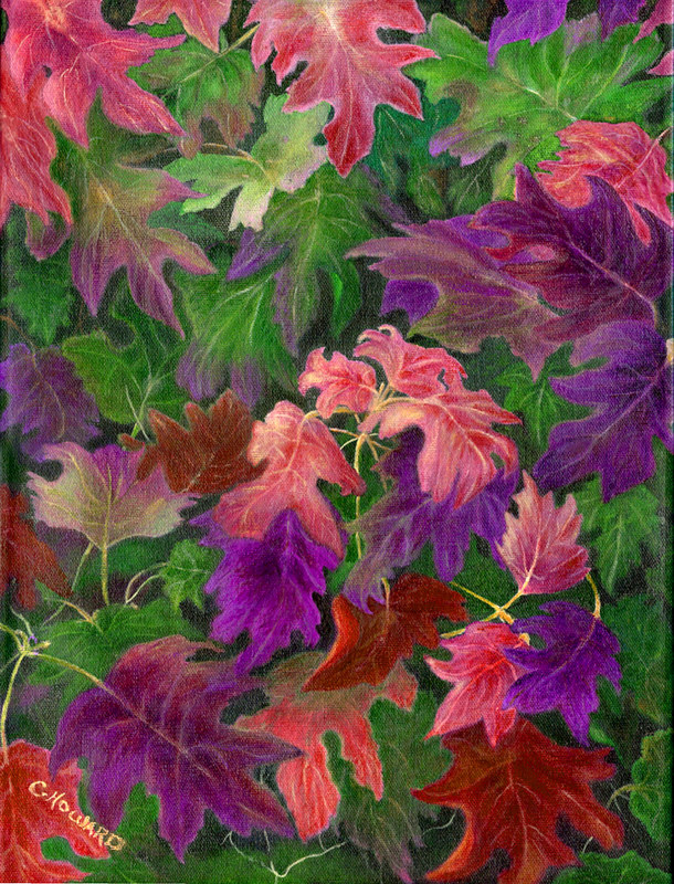 Acrylic painting When Autumn Leaves by Catherine Howard