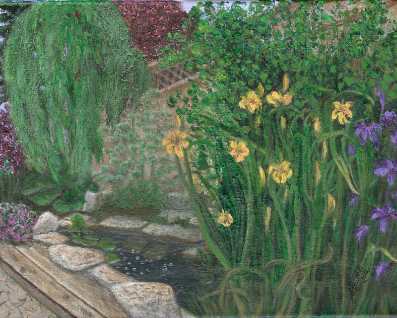 Acrylic painting The Garden by Catherine Howard