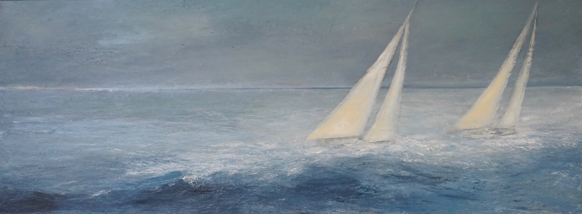 Oil painting The Last Leg @ Thomas Henry Gallery Nantucket by Nella Lush