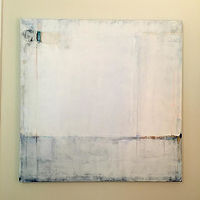 Mixed-media artwork Horizon in White by Sarah Trundle