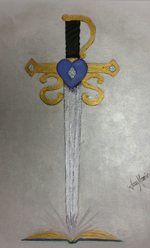 Acrylic painting Sword Soul Publishing Logo by Jan Wirth