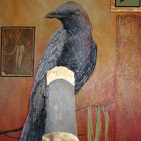 Photography Upscale Urban Crow  by Claudia Stewart