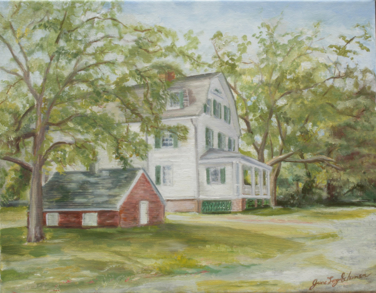 Oil painting Sagtikos manor painting by June Long-schuman