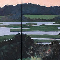 Topsail triptych by Ginger Arthur