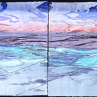 "Sel sans L'eau  (36""X48"" diptych) by Cathie Crawford"