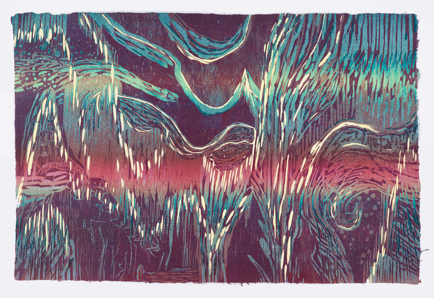 "Print Pluvious I  (24""X36"") by Cathie Crawford"