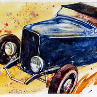 Watercolor Deuce by Paul Sershon