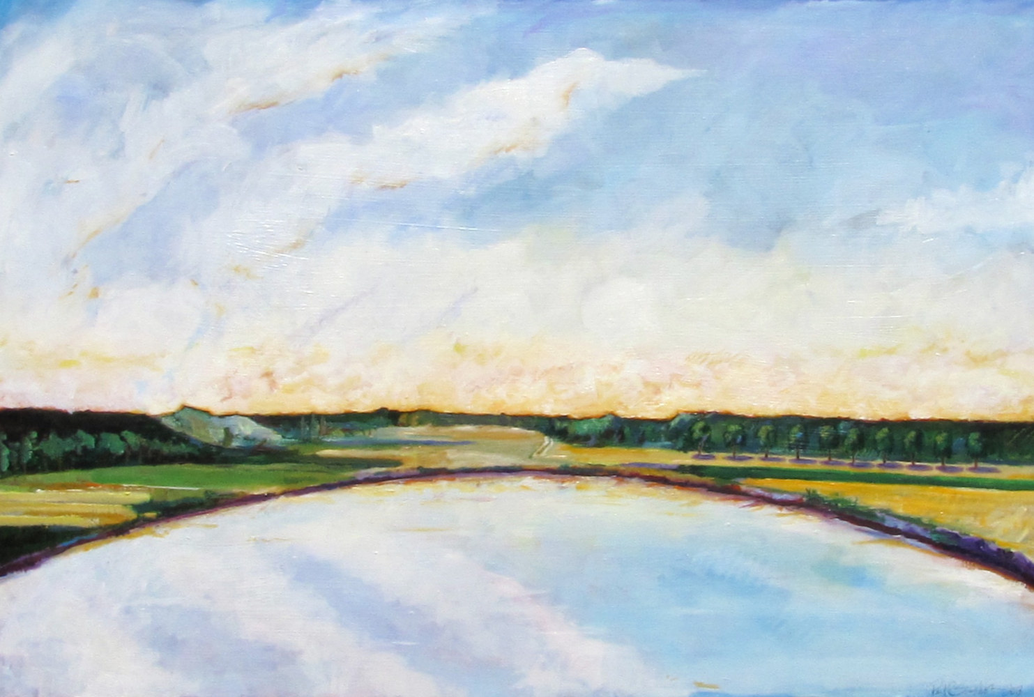 Oil painting Reservoir by Paul Sershon