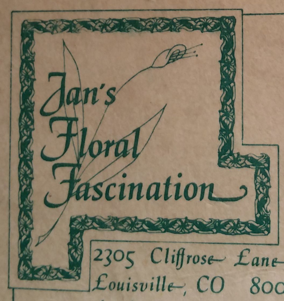Drawing Jan's Floral Fascination Logo by Jan Wirth