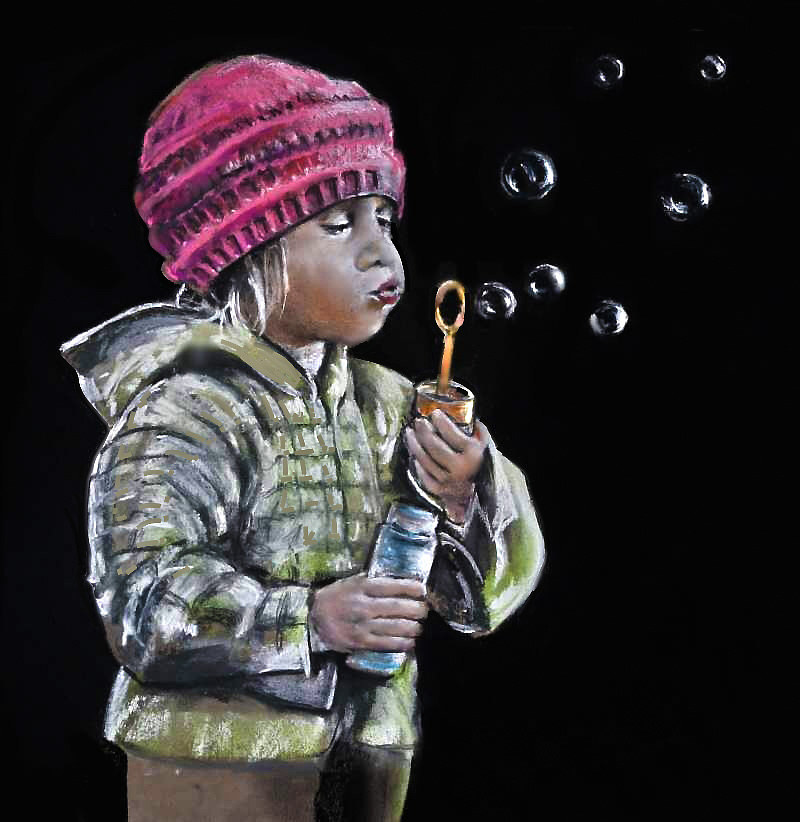 Blowing bubbles by John Langeveld