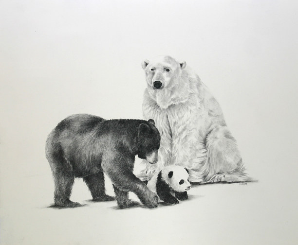 Drawing The Three Bears by Ellen Cornett