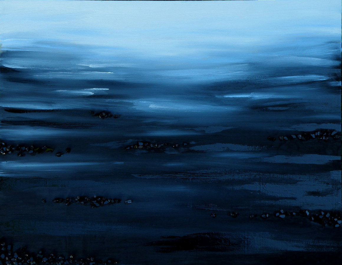 Oil painting Landscape Poetry in Black by Sarah Peschell