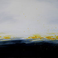 Oil painting Landscape Poetry in Yellow by Sarah Peschell