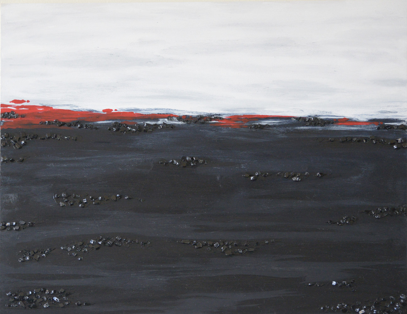 Oil painting Landscape poetry in Red by Sarah Peschell