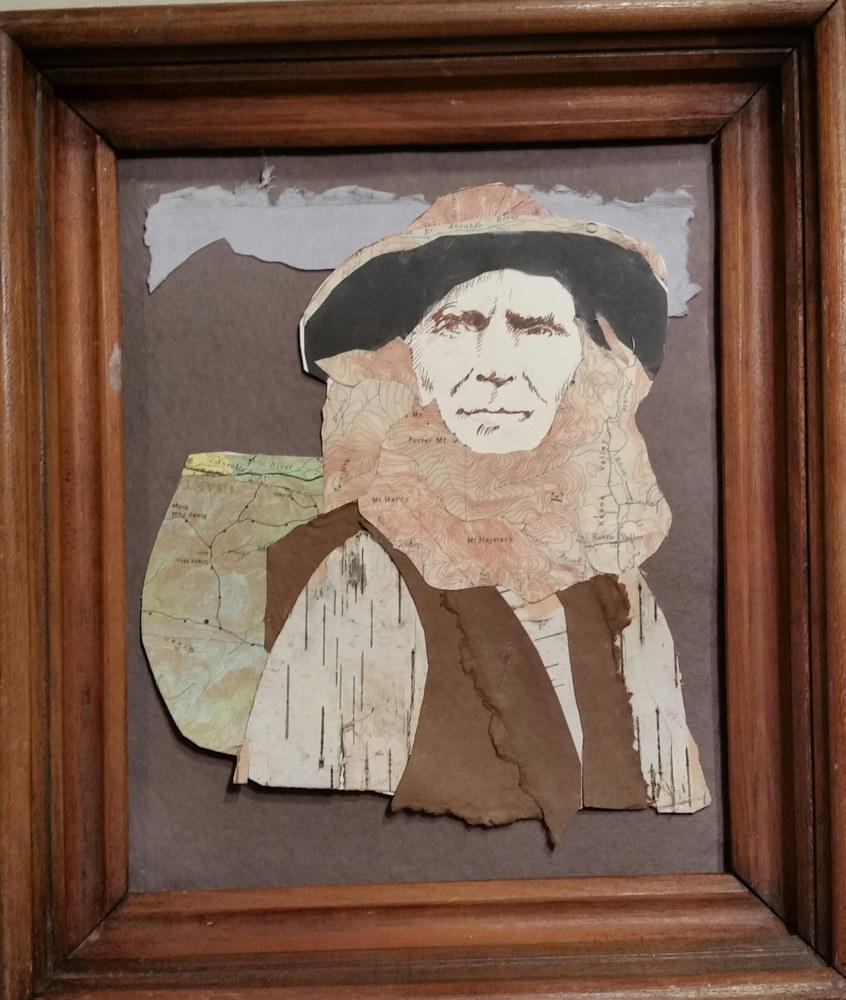 old Mountain Phelps collage in Victorian frame 9x12in  by Michael  Gaudreau