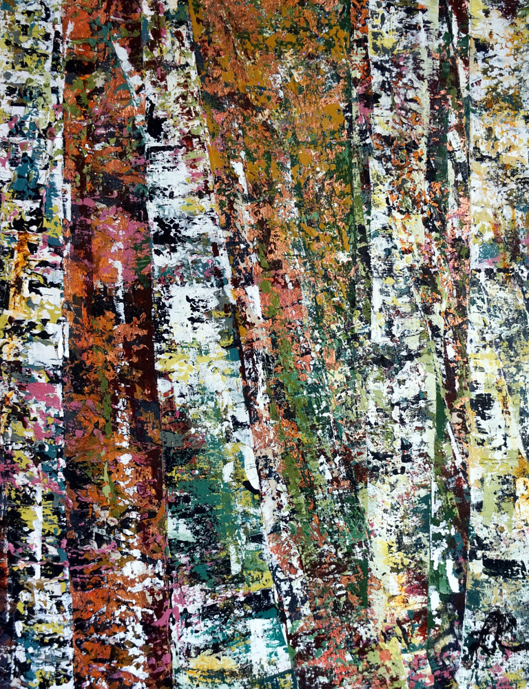 Acrylic painting Forest by Linda Richardi