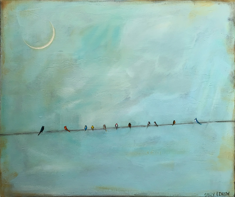 Acrylic painting Coexist II by Sally Adams