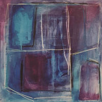 Drawing Purples and Blues  by Sarah Trundle