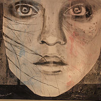 Mixed-media artwork Staring Back by Steve Latimer