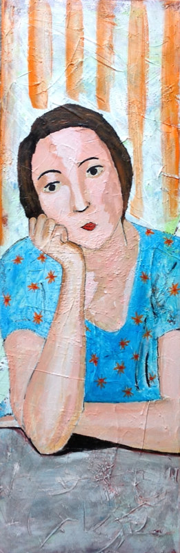 Acrylic painting The Blue Blouse (after Matisse) by Bernard Scanlan