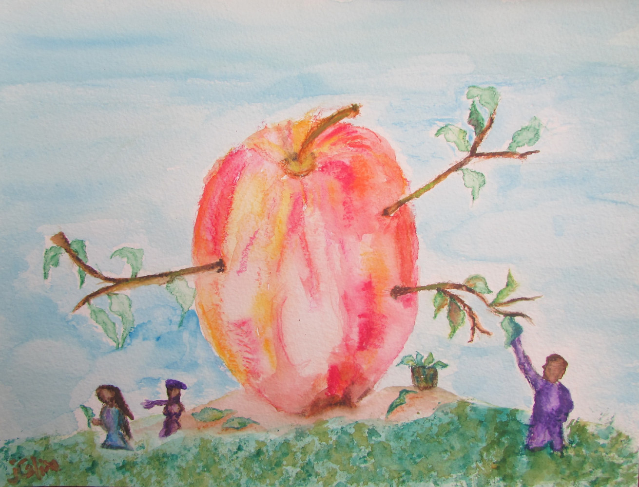"Watercolor ""Apple Tree"" by Jasmine Calix"