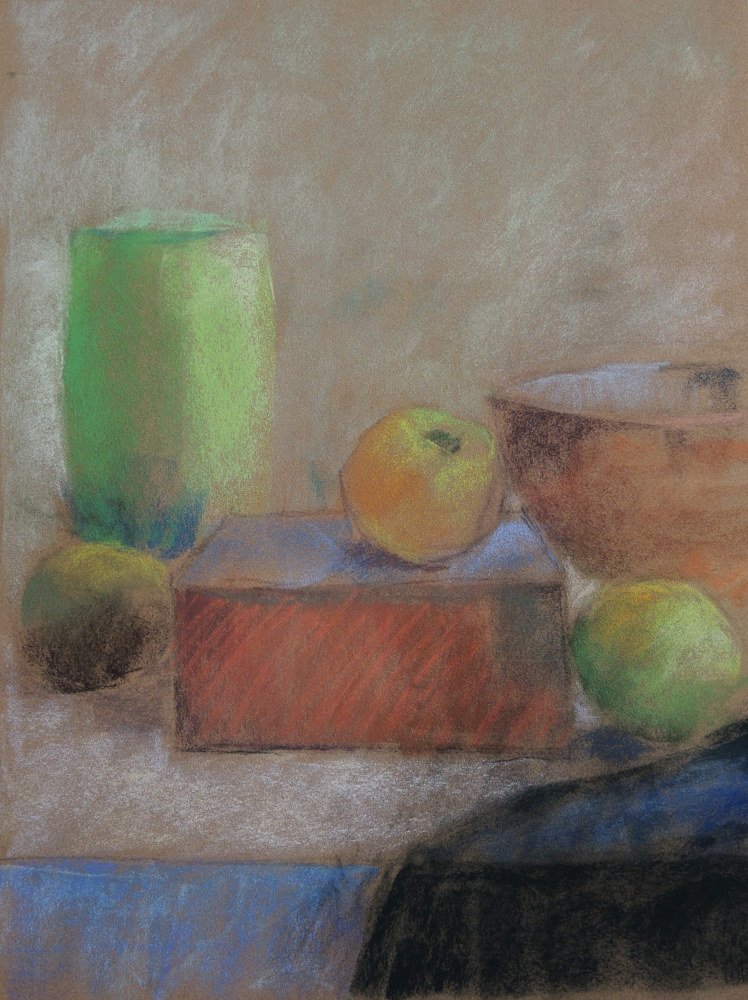 Green Vase and Collander by Cynthia Nockold