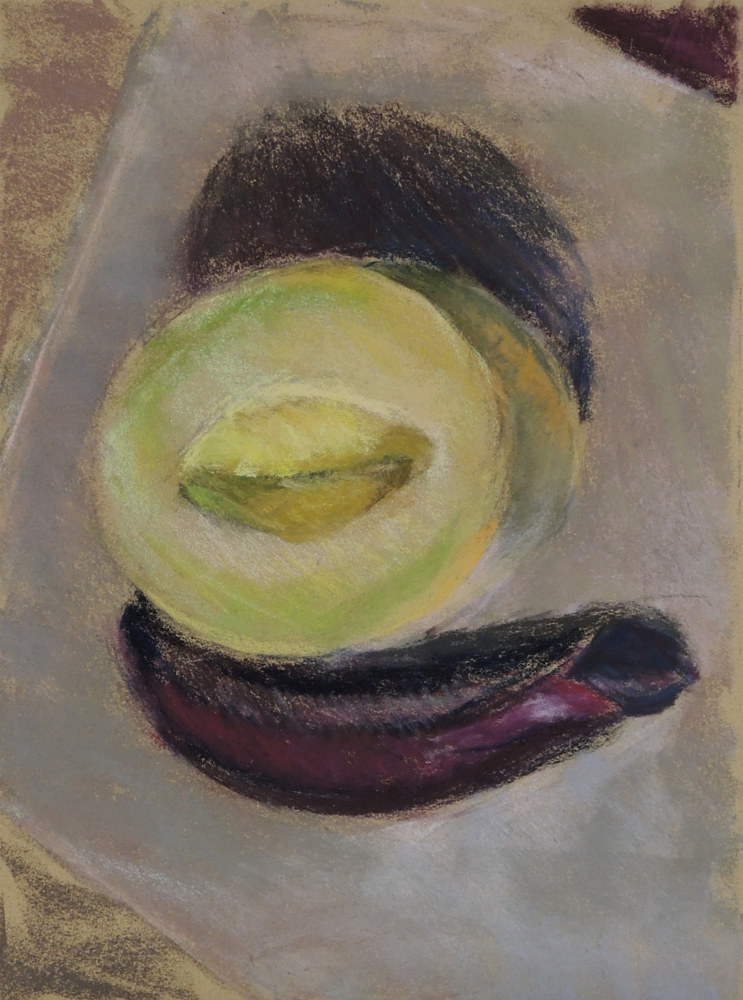 Eggplant and Melon by Cynthia Nockold