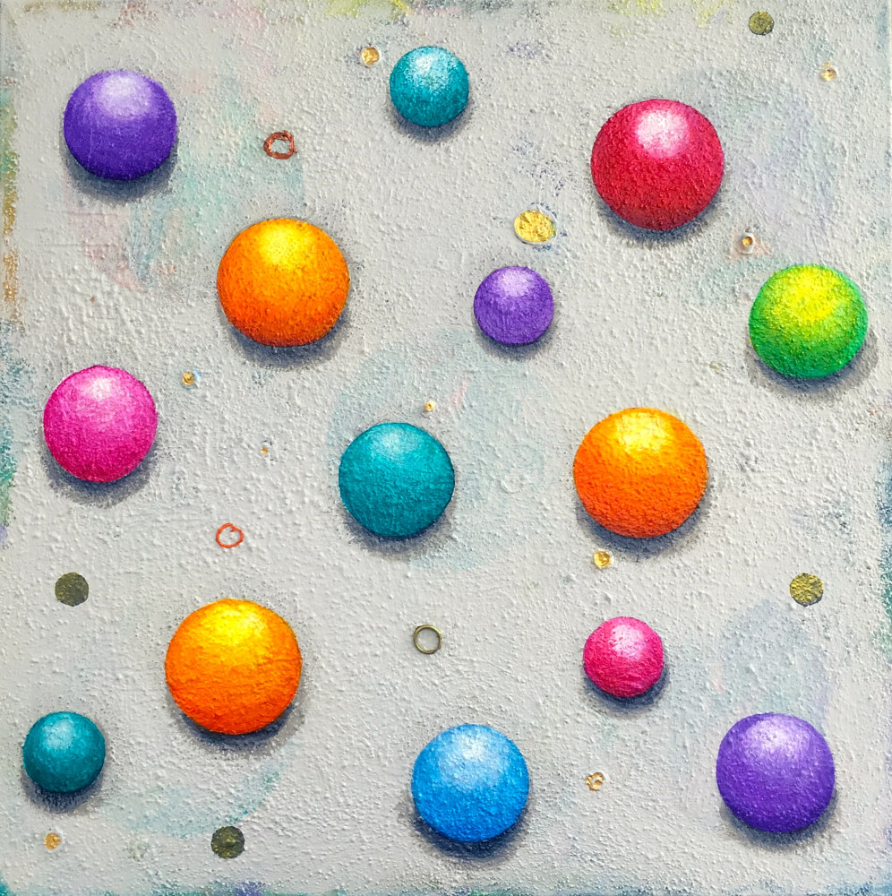 Acrylic painting Square Peg, 24 x 24 by Allyson Malek