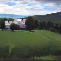 Oil painting My Vermont Summer by Jess Kilgore