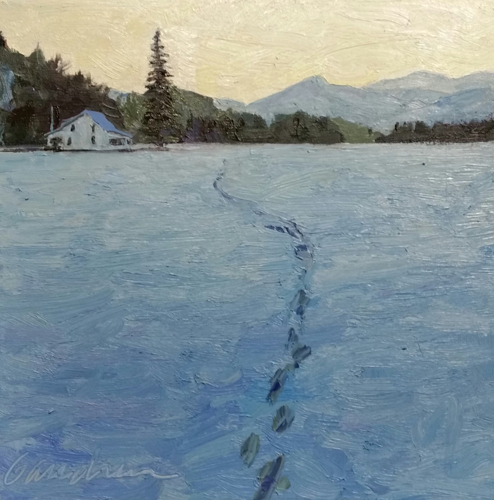 Oil painting Cold Frosty Morning  -Marcy Field  by Michael  Gaudreau