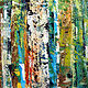 Acrylic painting Summer Forest by linda richardi