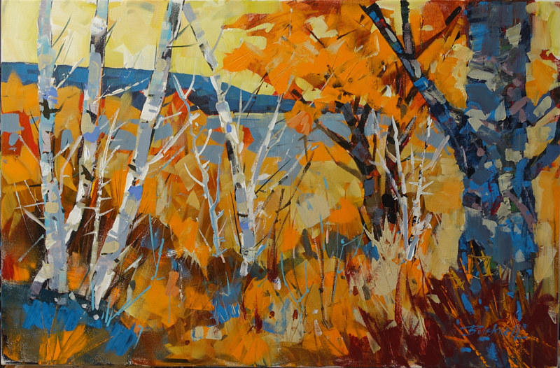 Autumn Grasses   Acrylic 20x30 2016 by Brian  Buckrell