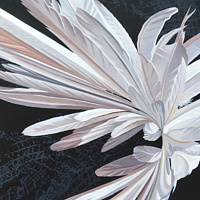 Oil painting White Hybrid #1 by Robert Porazinski