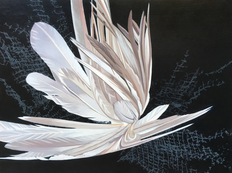 Oil painting White Hybrid #2 by Robert Porazinski