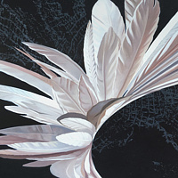 Oil painting White Hybrid #3 by Robert Porazinski