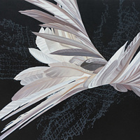 Oil painting White Hybrid #4 by Robert Porazinski