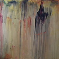 Acrylic painting Large Abstract by Elizabeth Mercer
