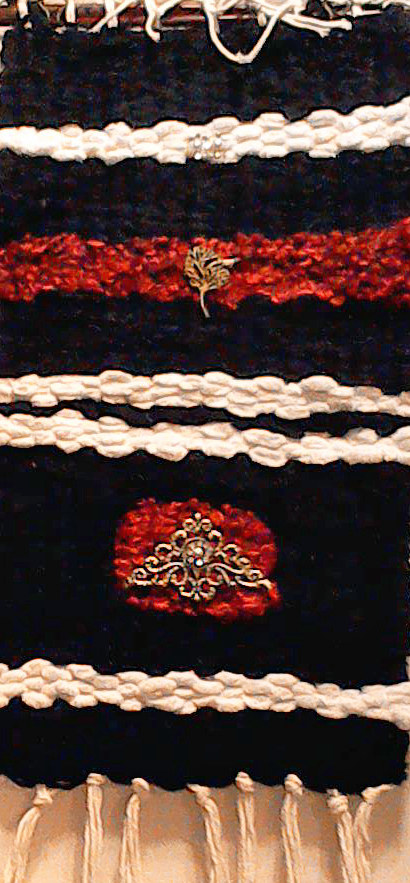 Pin woven Black and Red by Mary Chalmers Main