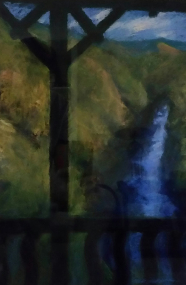 From the Porch - Ausable  pastel by Michael  Gaudreau